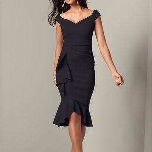 Venus ruffle detail dress